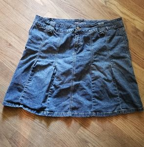 Baccini jean flare mini skirt. Size 20w